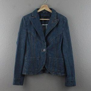 MARC JACOBS | size 10 denim blazer